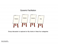 Dynamic facilitation discussion categories