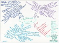 Hand drawn mind map of windsurfing sensations